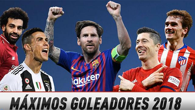 Leo Messi, máximo goleador de 2018
