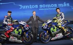Lorenzo y Rossi en la presentación del equipo 2015