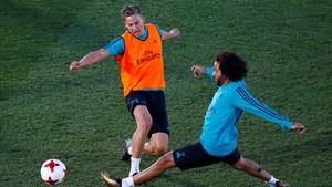 Marcos Llorente solo participa en los entrenamientos del Real Madrid