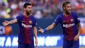 Messi y Neymar, grandes amigos desde su etapa en el FC Barcelona