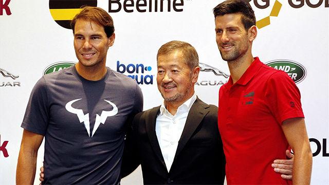 Nadal y Djokovic presentan su próximo partido benéfico en Kazajistán