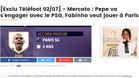 La noticia de Téléfoot asegurando el fichaje de Pepe por el PSG