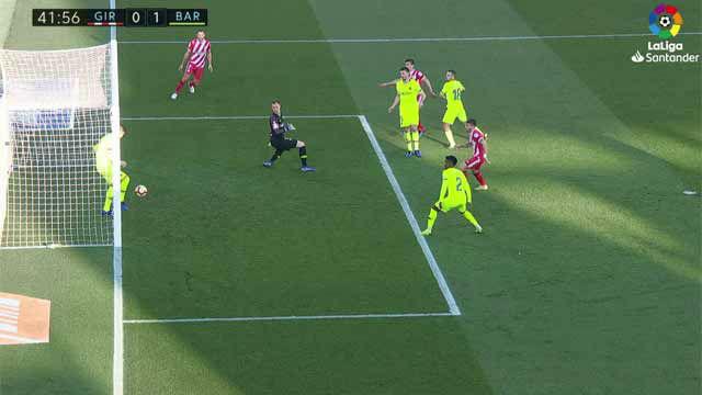 Piqué salvó el empate del Girona bajo palos