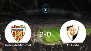 El CF Pobla de Mafumet suma tres puntos a su casillero tras ganar al At. Horta (2-0)