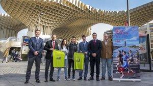 Presentado el EDP Medio Maratón de Sevilla en el Antiquarium