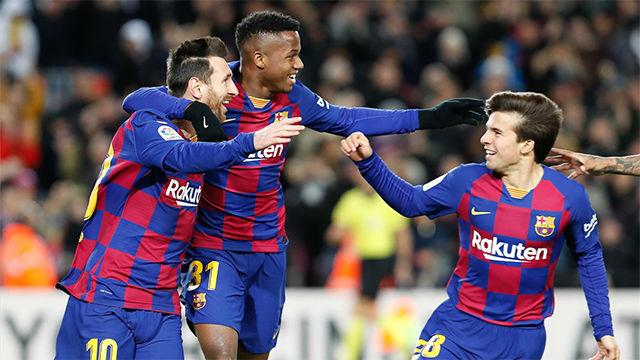 Riqui presionó, recuperó e inició la jugada del gol del Barça ante el Granada