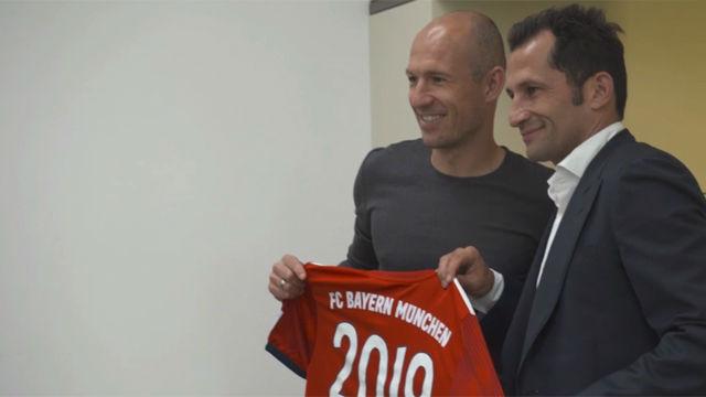 Robben renueva con el Bayern hasta 2019