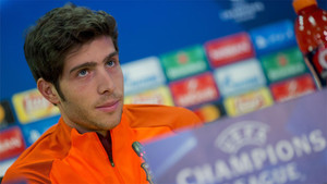 Sergi Roberto valoró el sorteo de los octavos de la Champions y el emparejamiento Chelsea - Barça