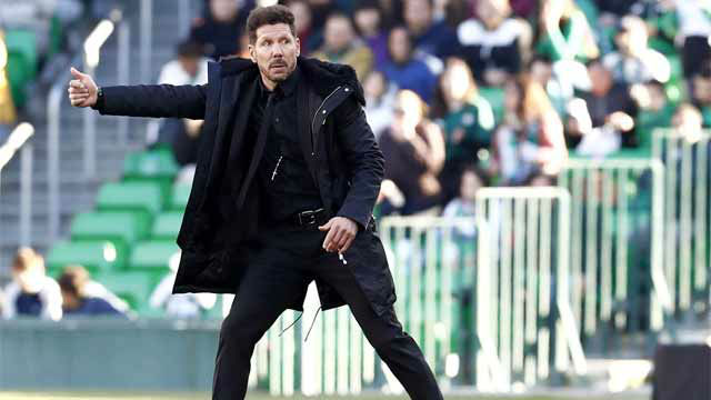 Simeone: Por lo menos el Barcelona no se alejó mucho