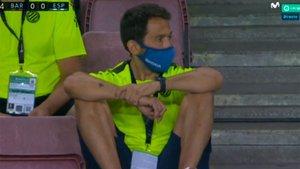Tamudo presenció el descenso desde la grada del Camp Nou