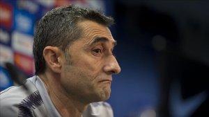 Valverde habló en la rueda de prensa