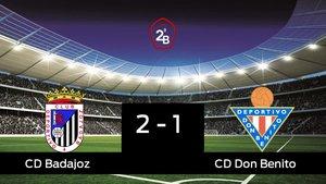 Victoria 2-1 del Badajoz frente al Don Benito