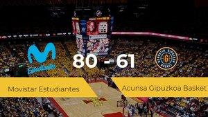 Victoria del Movistar Estudiantes ante el Acunsa Gipuzkoa Basket por 80-61