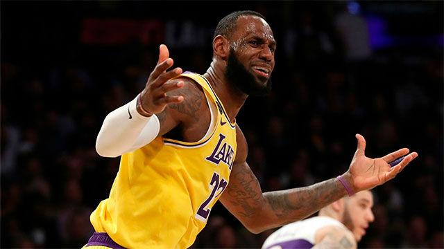 Victoria de los Lakers ante New Orleans Pelicans