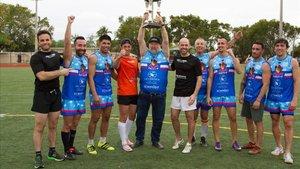 Actuales campeones del Mundo de Rugby Touch Five