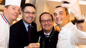 Bartomeu junto al expresidente francés