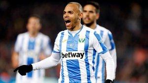 Braithwaite celebra un gol con el Leganés