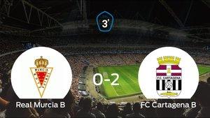 El Cartagena B se lleva la victoria después de derrotar 0-2 al Real Murcia B