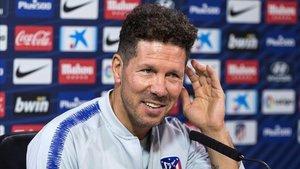 Cholo Simeone durante una rueda de prensa