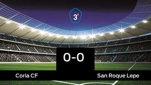 El Coria empató frente al San Roque Lepe (0-0)