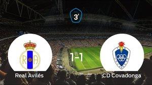 El Covadonga saca un punto al Real Avilés a domicilio 1-1