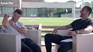 Cristiano Ronaldo, durante la entrevista con Rio Ferdinand