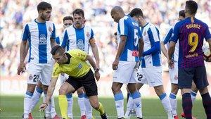 Del Cerro Grande ya dirigió el derbi entre el Espanyol y el FC Barcelona del curso pasado