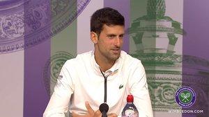 Djokovic, en su rueda de prensa