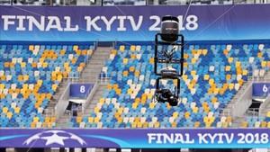El Estadio Olímpico de Kiev, preparado para el Madrid - Liverpool