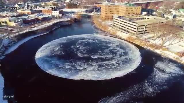 Este disco de hielo ha impactado a los EEUU