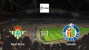 Getafe drop points against Real Betis1-1 at Benito Villamarin