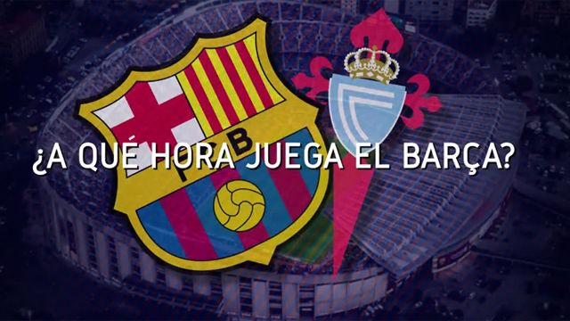 Horario mundial del FC Barcelona - Celta