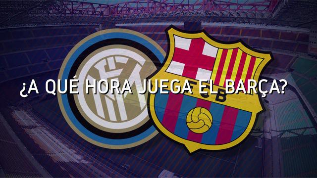 Horario mundial del Inter - FC Barcelona