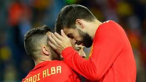 Jordi Alba y Pique son titulares ante Rusia