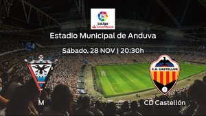 Jornada 15 de la Segunda División: previa del encuentro CD Mirandés - Castellón