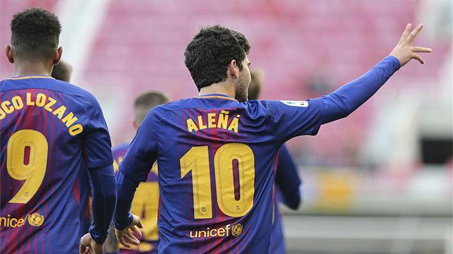 LALIGA 123 | Barcelona B - Granada: (3-0): El golazo de Aleñá ante el Granada