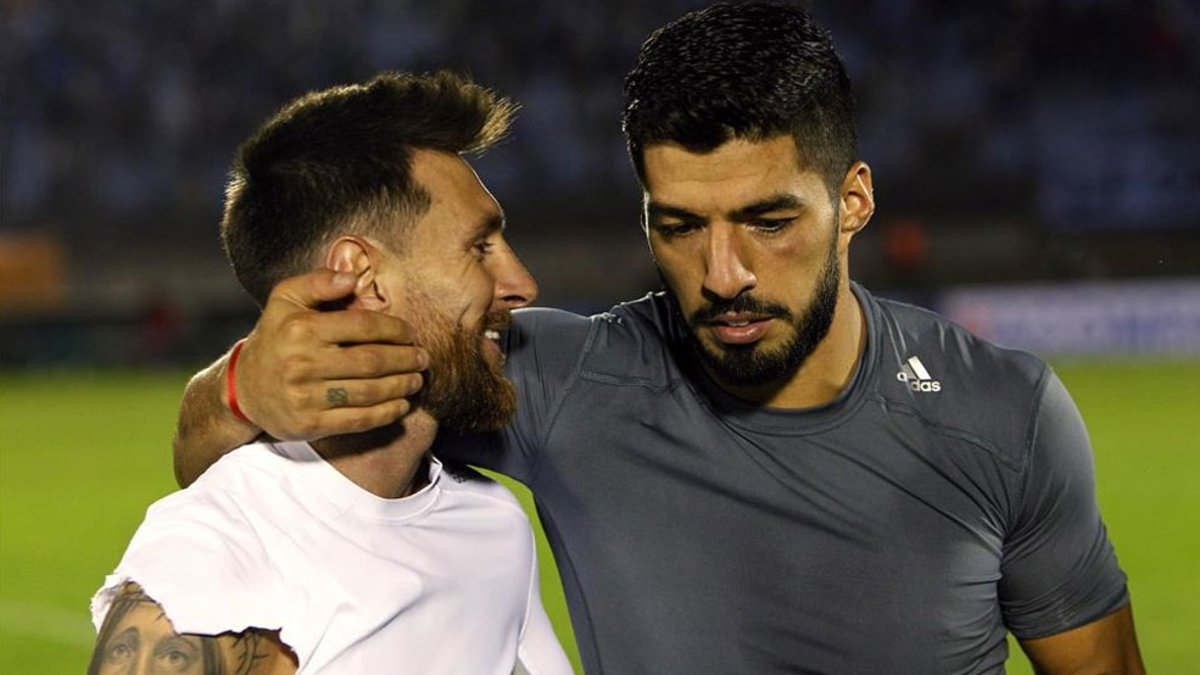 Lionel Messi V Luis Suarez Enemies For One Day Sport English News On Cards