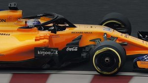 El logo de Coca-Cola, en el McLaren