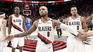 Los Blazers lograron su primer triunfo en playoffs