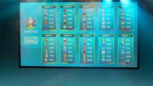 Los grupos de la fase de clasificación de la Eurocopa 2020