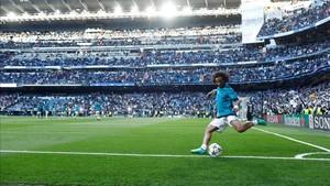 Marcelo, en el Bernabéu