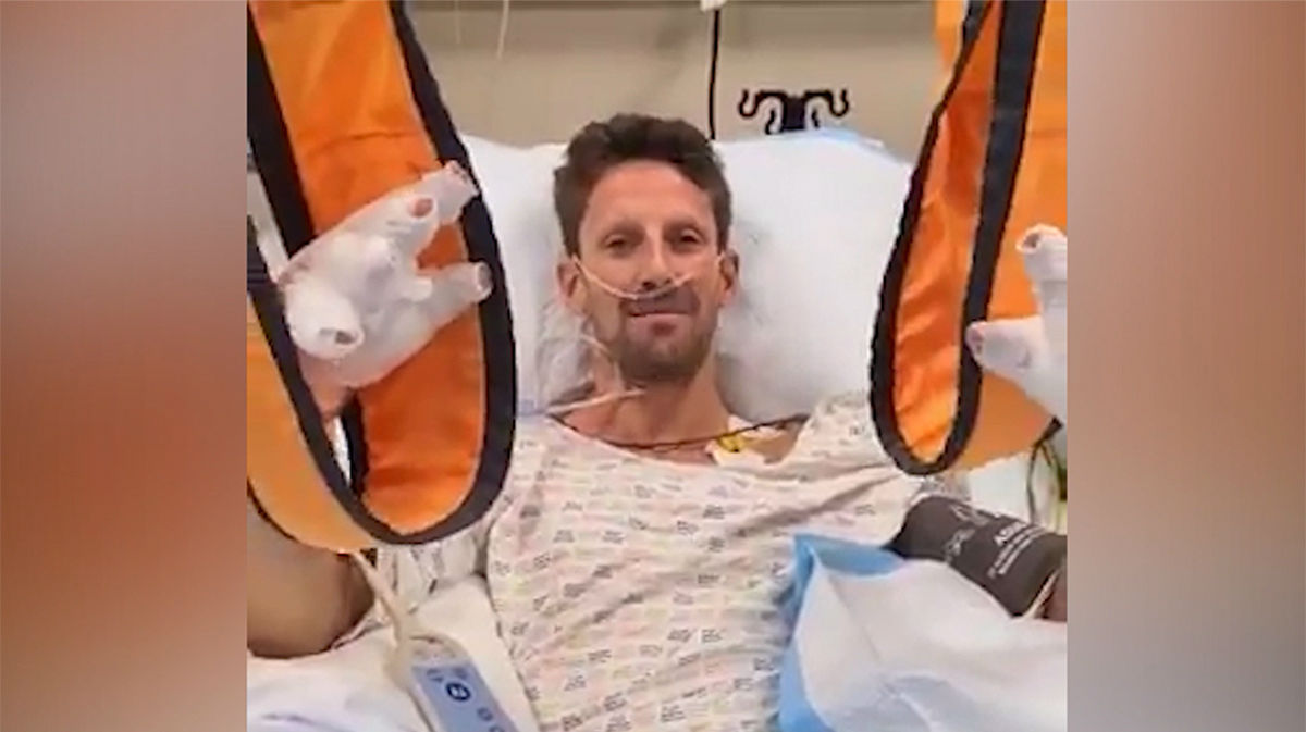 El mensaje de Grosjean desde el hospital