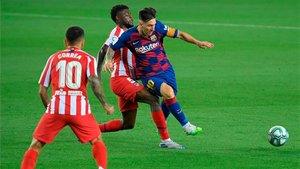 Messi, en un lance del partido contra el Atlético
