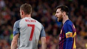 Milner reconoce su admiración por Messi