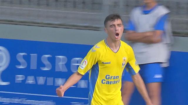 Pedri sigue maravillando en Las Palmas: Con este gol lideró la victoria canaria