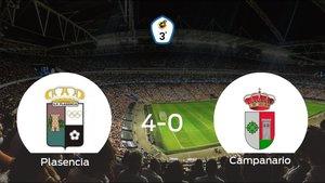 El Plasencia se queda con los tres puntos frente al Campanario (4-0)
