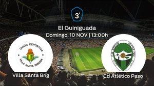 Previa del partido de la jornada 12: Villa Santa Brígida contra CD Atlético Paso