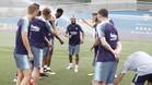 El primer entrenamiento de Vidal con el Barça