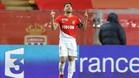 Radamel Falcao celebra uno de sus tantos ante el Montpellier