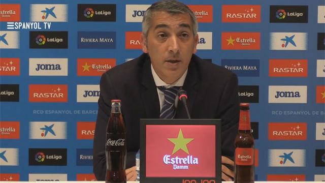 Ramón Robert valoró en rueda de prensa la temporada del Espanyol